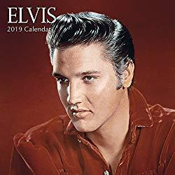 Image: 2019 Wall Calendar - Elvis Presley Calendar, 12 x 12 Inch Monthly View, 16-Month, Famous 50s 60s Singer Icon, Includes 180 Reminder Stickers
