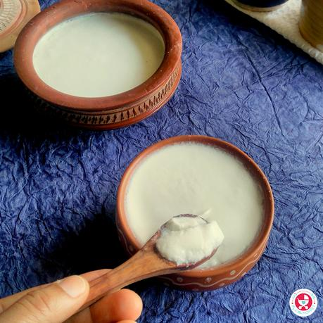 Handy tips and easy recipe to make fresh, smooth, thick and well set homemade curd. Curd is immunity boosting and has high amount of calcium.