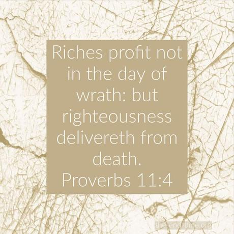 Praying for riches or prosperity this year? Consider this warning from Proverbs