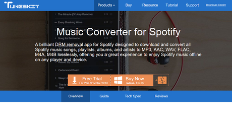 TunesKit Music Converter for Spotify Review: Download & Convert Spotify Music