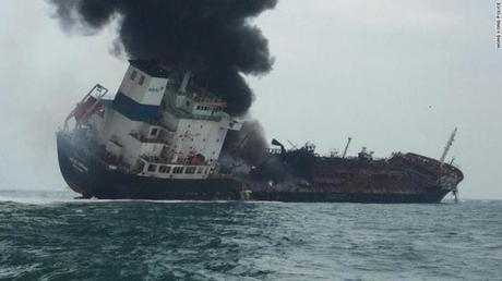 Blazing Hong Kong Bound Oil Tanker Kills One With Two Crew Members Missing