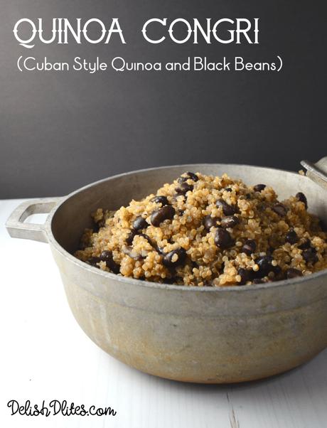 Quinoa Congri (Cuban Style Quinoa and Black Beans)