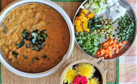 Recipe: Seven vegetables curry (Ezhukari Kootu) for Sankranti