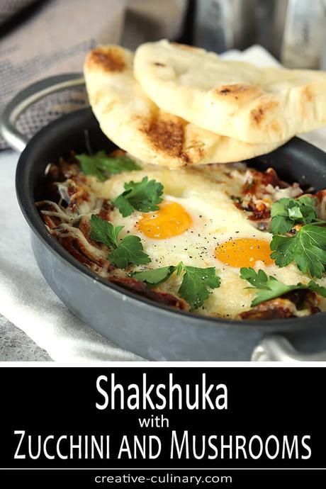 Shakshuka with Zucchini and Mushrooms