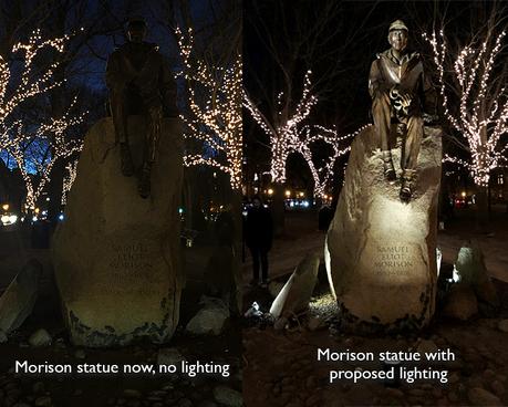 Commonwealth Avenue Mall Lighting | January 15, 2019