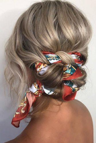 valentines day hairstyles silk scarf and swept low bun hairbybrittany