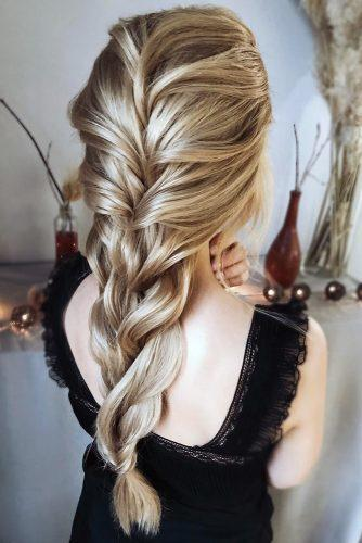 valentines day hairstyles slightly messy elegant long braid hair_vera