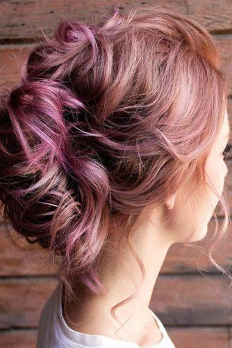 valentines day hairstyles medium pink hair loose curls french roll hairandmakeupbysteph