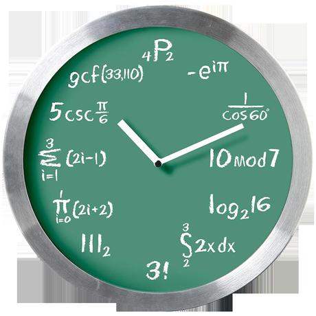 Kairos Equation Geek Children Fun Metal Wall Clock, Green