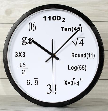Kairos Math Equation Children Fun Metal Wall Clock, White