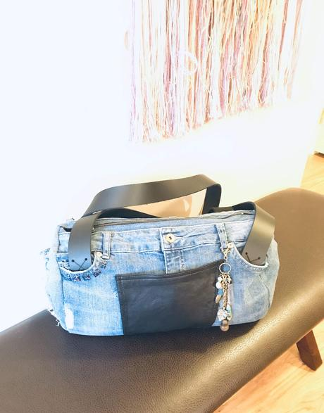 Upcycled Denim Handbag