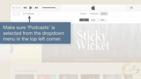 select podcasts from iTunes menu to review