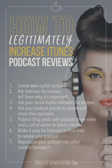 🎙🎧 iTunes podcast reviews are essential to the future success of your podcast. But do you get them? Click the link to learn 5 creative ways to get more legitimate iTunes podcast reviews 👉 👉 http://tgcafe.it/podcast-reviews