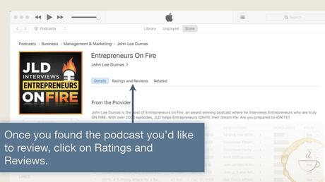 find ratings and reviews to leave iTunes Podcast Review