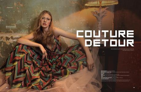 Maryna Polkanova in Couture Detour for STYLE SCMP Magazine by Benjamin Kanarek