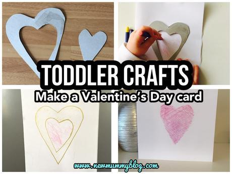 Easy toddler Valentine's Day card