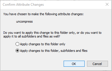 Remove Blue Arrows Icon on Compressed Files and Folders in Windows 10