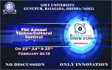 GIET University Gunupur – Science and Tech Expo – SNTEXPO – 2019