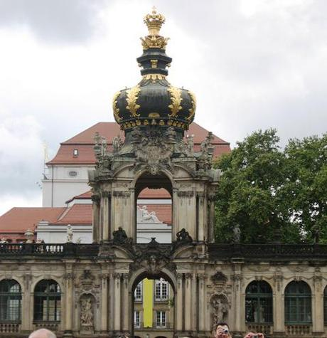 crown gate at zwinger in Dresden
