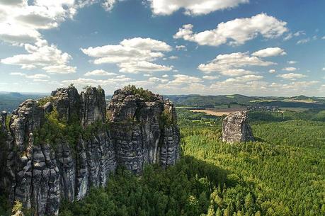 Elbe Sandstone Mountains near Dresden.
