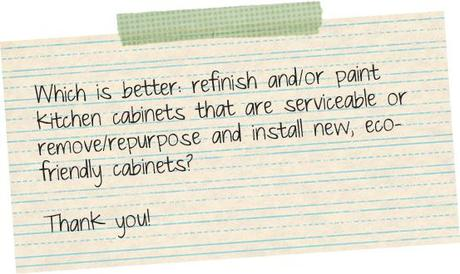Inbox Inquiry: Refinish or Replace Kitchen Cabinets?