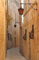 Narrow street; Mdina, Malta