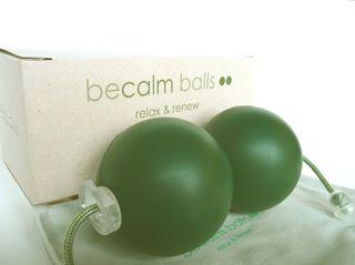 Becalm photo with box