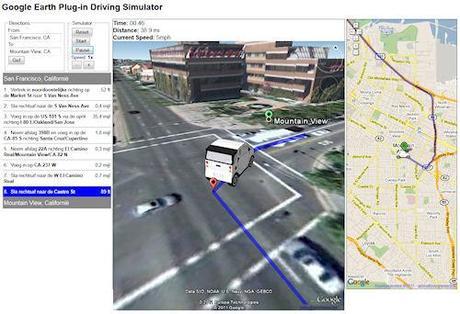 Google Earth Driving Simulator