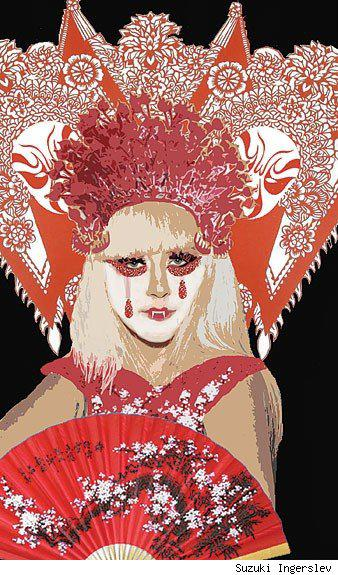 Zuzuki Ingerslev creates Chinese Opera design for Lady Gaga