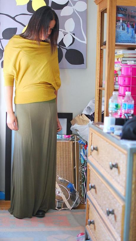 anthropologie sweater maxi skirt