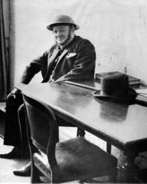 Winston Churchill in Helmet