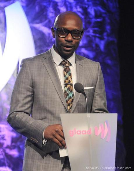 Nelsan Ellis presents at the GLAAD Media Awards
