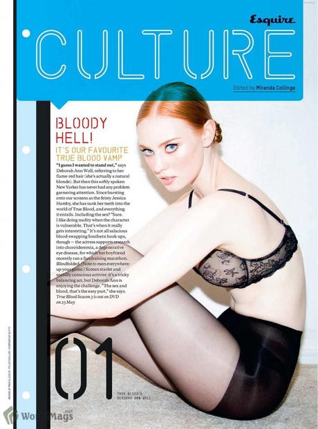True Blood's Deborah Ann Woll in the June issue of Esquire UK