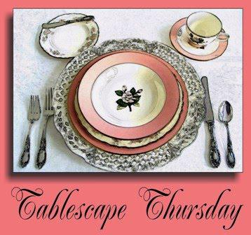 Tablescape with red tulips - 139th tablescape thursday