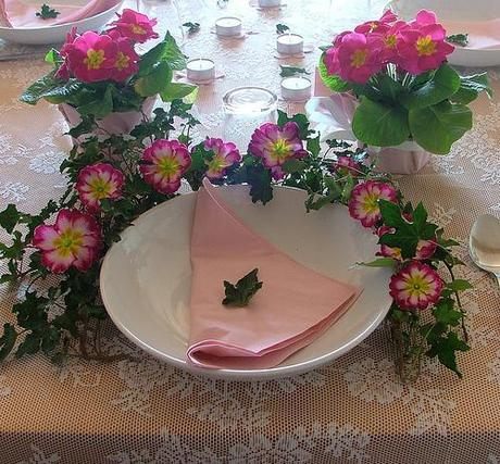 Tablescape in Pink - happy birthday sofi!
