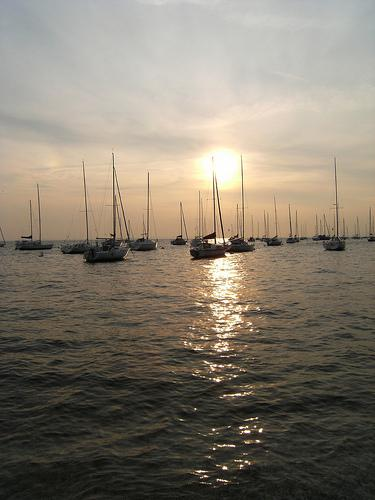 boats in the sunset 27 jan 2011