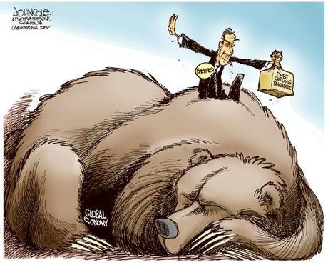 Boehner and debt ceiling  © John Cole, The Scranton Times-Tribune,BOEHNER, DEBT CEILING, TEA PARTY, GOP, OBAMA, DEMOCRATS, GLOBAL ECONOMY, ECONOMY, INVESTORS, WALL STREET