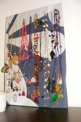 DIY Wall Jewelry Organizer