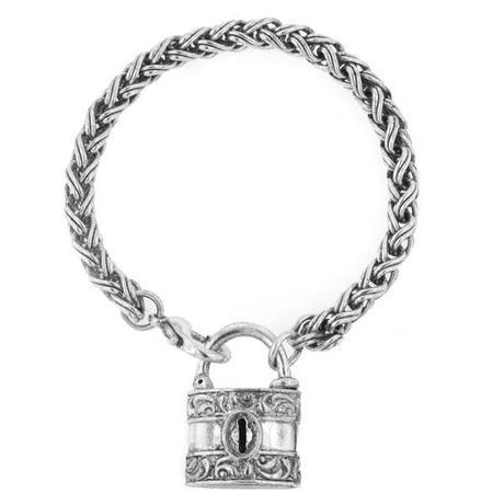 vintage lock bracelet