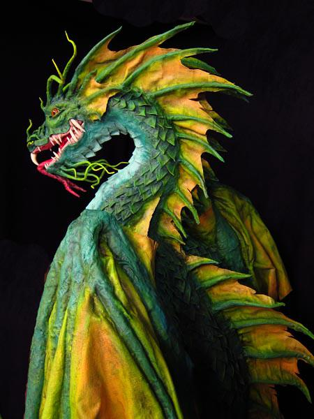 New Paper Mache Dragon- Finished!