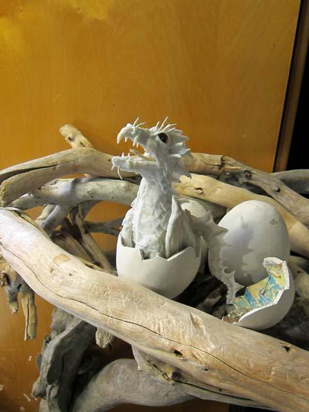 New Paper Mache Baby Dragon
