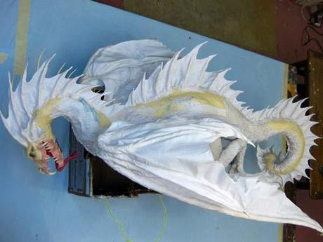 New Paper Mache Dragon- Cool Spine