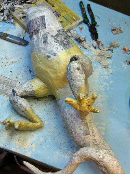 New Paper Mache Dragon-assembly!