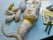 Paper Mache Dragon-assembly!