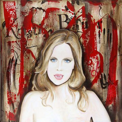 For Auction: An Original Painting of Kristin Bauer by Artist Eric Waugh