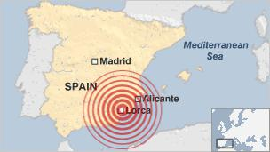 Earthquake in Lorca