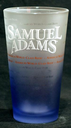 Samuel Adams beer glass