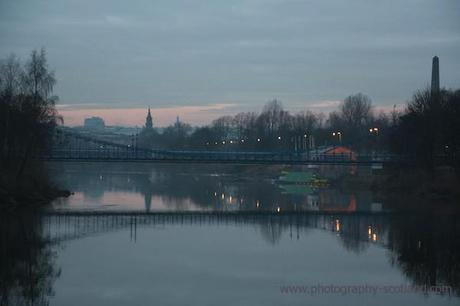Photo - the River Clyde as it passes through Glasgow Green