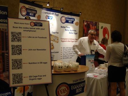 Using QR codes at a trade showby Eggland's Best