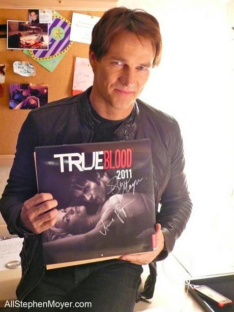 Charity auction of signed True Blood calendar for Brentwood Theatre